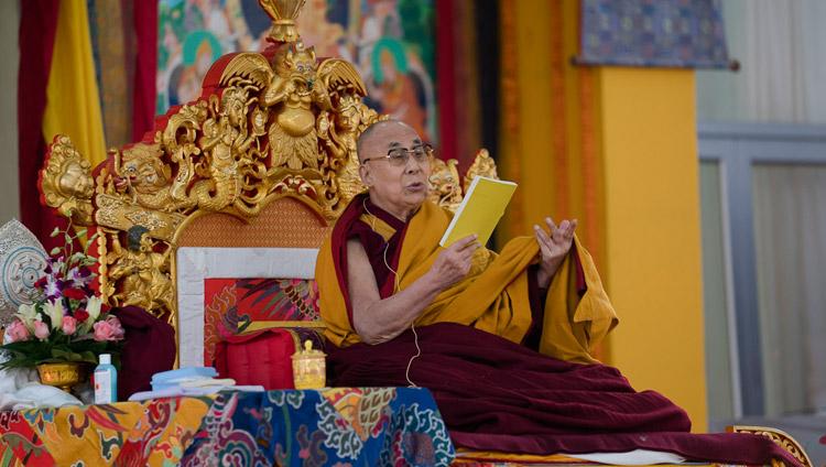 В Бодхгаї проходять вчення Його Святості