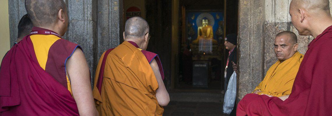 Його Святість Далай-лама здійснив паломництво до Храму Махабодхі в останній день його перебування в Бодхгаї